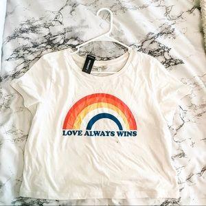 Love Always Wins Crop T-shirt